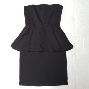 Zara Tube Top Ruffle Dress